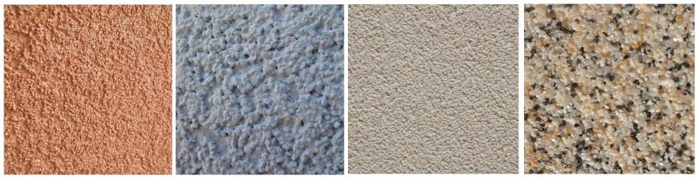 Виды камешковой штукатурки