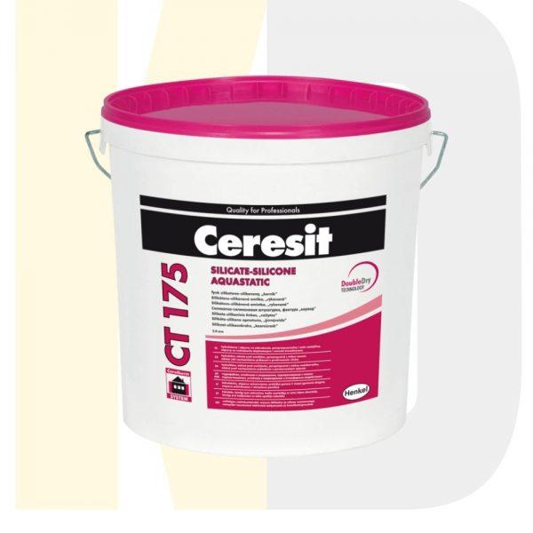 """Декоративная силикатно-силиконовая штукатурка Ceresit CT 175, """"короед"""", 2 мм, 25 кг, РБ"""