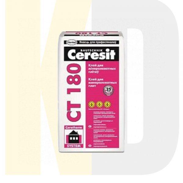 Клеевой состав Ceresit CT 180 для приклеивания минеральной ваты, 25 кг, РБ